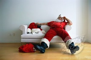 exhausted santa